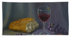 Bread And Wine Hand Towel