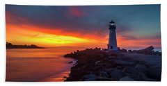 Break Of Day At Walton Lighthouse Hand Towel
