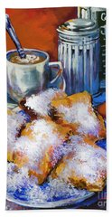 Breakfast At Cafe Du Monde Hand Towel
