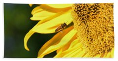 Hand Towel featuring the photograph Breakfast Bee by Angela J Wright