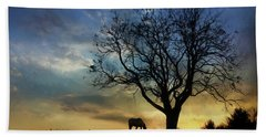 Grazing With A View Bath Towel by Lori Deiter