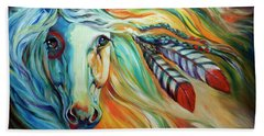 Breaking Dawn Indian War Horse Bath Towel