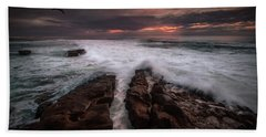 Breaking Waves, Signed Hand Towel