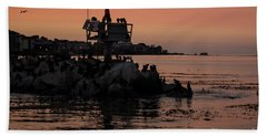 Breakwater Sunset Hand Towel