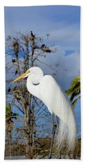 Breezy Egret Bath Towel