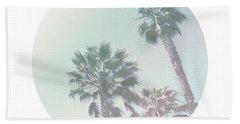 Breezy Palm Trees- Art By Linda Woods Hand Towel