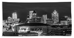 Brew City At Night Hand Towel