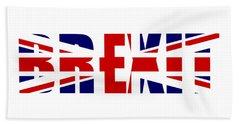 Brexit Bath Towel by Roger Lighterness