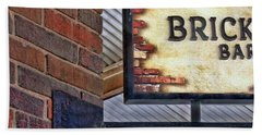 Bath Towel featuring the photograph Brick Bar by Nikolyn McDonald