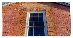 Brick House Window Hand Towel by Derek Dean