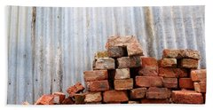 Bath Towel featuring the photograph Brick Piled by Stephen Mitchell
