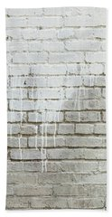 Bath Towel featuring the photograph Bricks And Paint Dripping Portrait by James BO Insogna