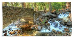 Bridalveil Creek At Yosemite By Michael Tidwell Bath Towel