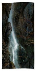 Bath Towel featuring the photograph Bridalveil Falls In Autumn by Bill Gallagher
