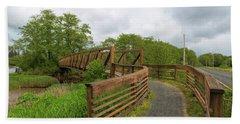Bridge Along Lewis And Clark Hiking Trail  Bath Towel