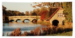 Bridge And Boat House On The Rye Water - Maynooth, Ireland Bath Towel