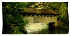 Hand Towel featuring the photograph Bridge At Red Mill by Joel Witmeyer