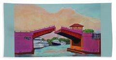 Bath Towel featuring the painting Bridge At Se 3rd by Deborah Boyd