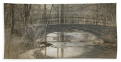 Bridge At The Fens Bath Towel