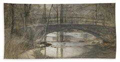 Bridge At The Fens Bath Towel