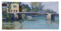 Bridge At Tonawanda Canal Bath Towel