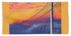 Bridge Detail At Sunrise Bath Towel