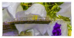 Bridge Flower.  Hand Towel