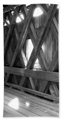 Hand Towel featuring the photograph Bridge Glow by Greg Fortier