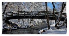 Bridge In Winter Bath Towel