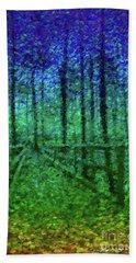 Bridge In Wood Bath Towel by Roger Lighterness