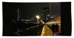 Bridge Into The Night Hand Towel by Felipe Adan Lerma