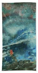 Bath Towel featuring the painting Bridge by Jane See