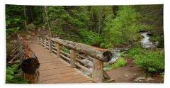 Bridge Near Bear Lake Trail Hand Towel by John Roberts