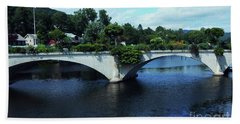 Bridge Of Flowers Bath Towel