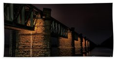 Bridge On Holy River Godavari Bath Towel