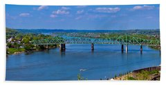 Bridge On The Ohio River Hand Towel