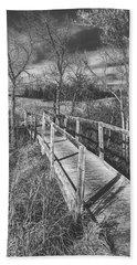 Bridge On The Prairie Hand Towel