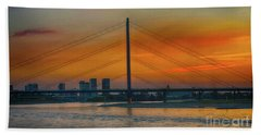 Bridge On The Rhine River Bath Towel