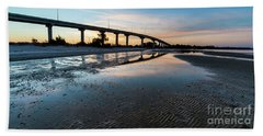 Bridge Over Beach, Port St Joe, Florida Bath Towel