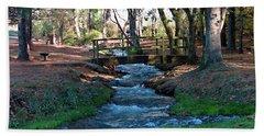 Bridge Over Peaceful Waters Hand Towel by Nick Kirby