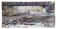 Bath Towel featuring the photograph Bridge Over Troubled Waters by EricaMaxine  Price