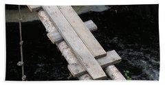 Troubled Bridge Over Waters Hand Towel