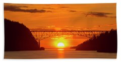 Bridge Sunset Bath Towel
