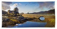 Bridge To Eilean Donan Bath Towel by Gary Eason