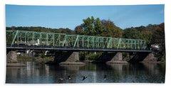 Bridge To Lambertville 2 Hand Towel by Judy Wolinsky