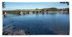 Bridge To Lamberville Hand Towel by Judy Wolinsky