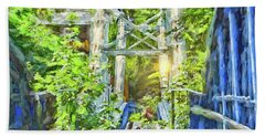 Hand Towel featuring the photograph Bridge To Your Dreams by LemonArt Photography