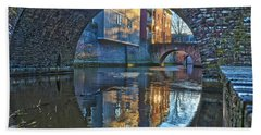 Bath Towel featuring the photograph Bridges Across Binnendieze In Den Bosch by Frans Blok