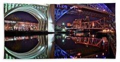 Hand Towel featuring the photograph Bridges by Frozen in Time Fine Art Photography