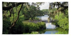 Bridges Over Tranquil Waters Hand Towel